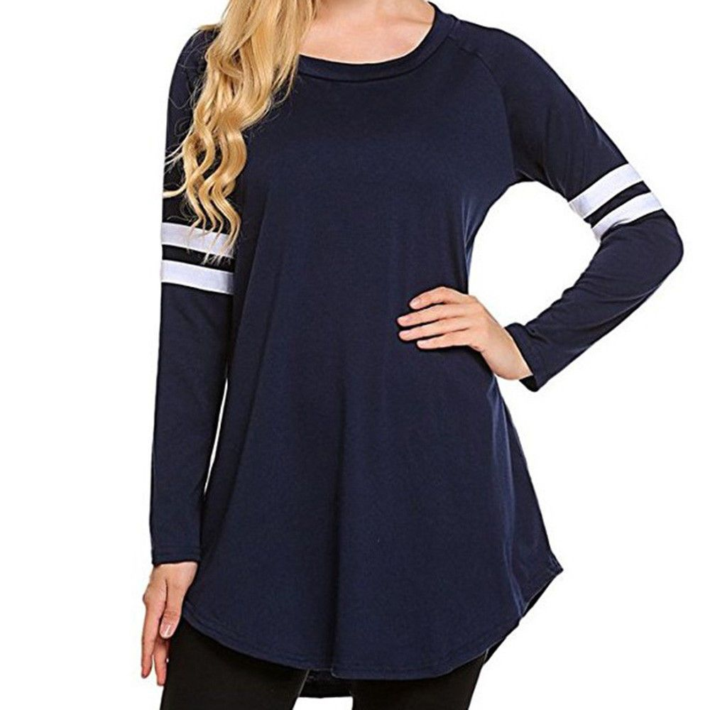 Tops Fashion Women Long Sleeve T Shirt Pullover Tops Casual Blouse