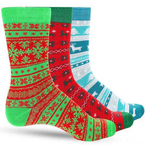 3 pack ugly sweater men s christmas dress colorful socks https
