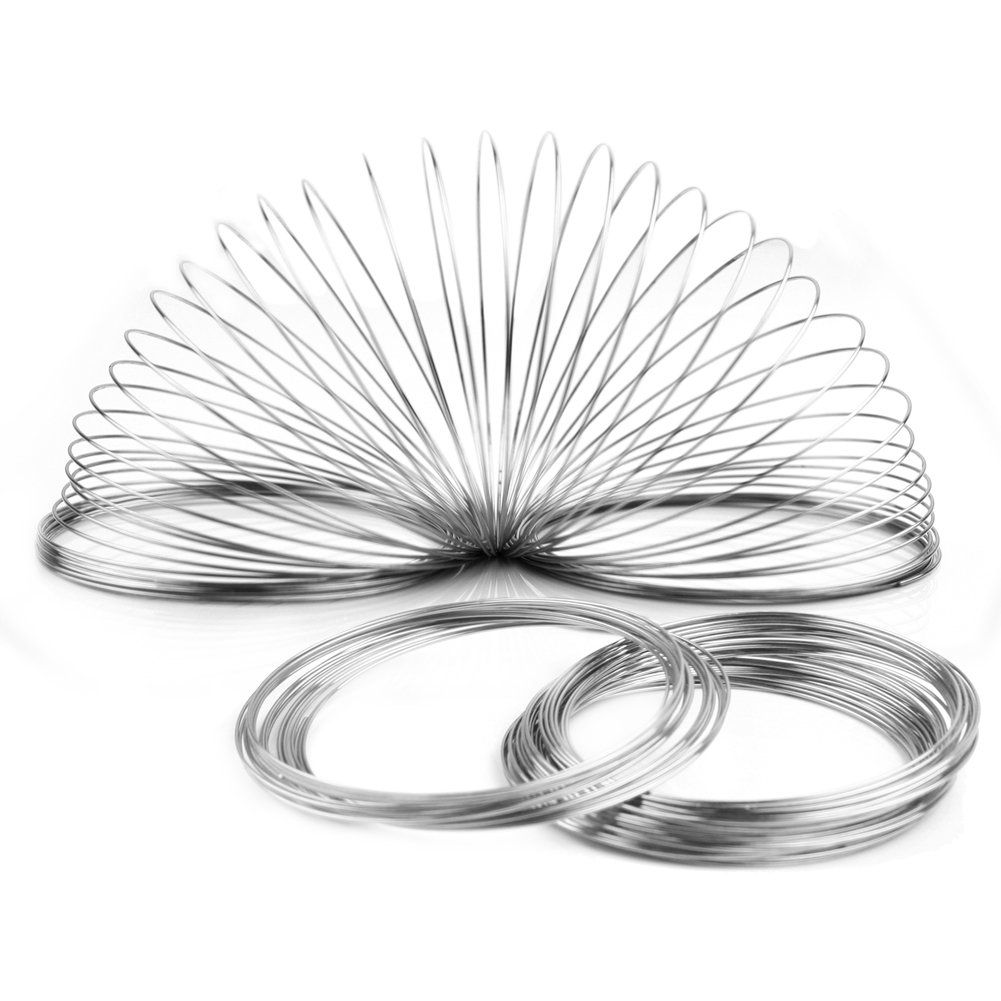 New 100loops Silver Plated Memory Steel Wire For Cuff