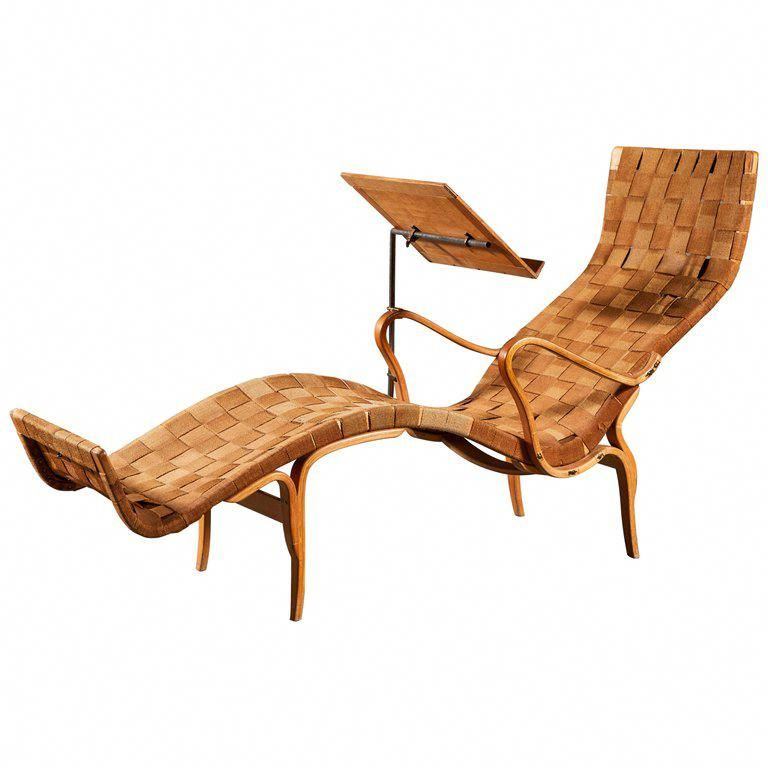 Rare Pernilla Chaise Longue With Reading Tray By Bruno Mathsson Homefurnishings Artistic Furniture Furniture Beautiful Furniture