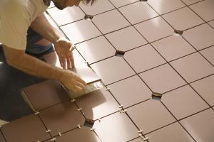 How To Install Tile Over Vinyl Or Linoleum Flooring Installing Tile Floor Tile Installation Laying Tile Floor