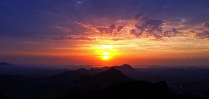 Cal Poly San Luis Obispo Sunset.