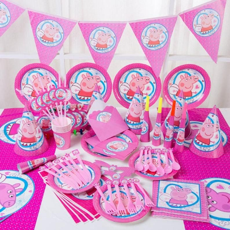 Peppa Pig Party Plates Peppa Pig Decorations Peppa Pig Party Craft Supplies Tools Party Tableware Jewellerymilad Com