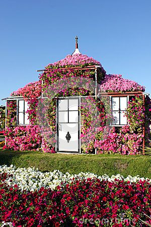 dream house covered with flowers royalty free stock photo - image
