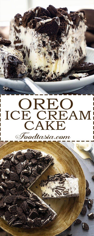 Oreo Ice Cream Cake #cookiesandcreamcake