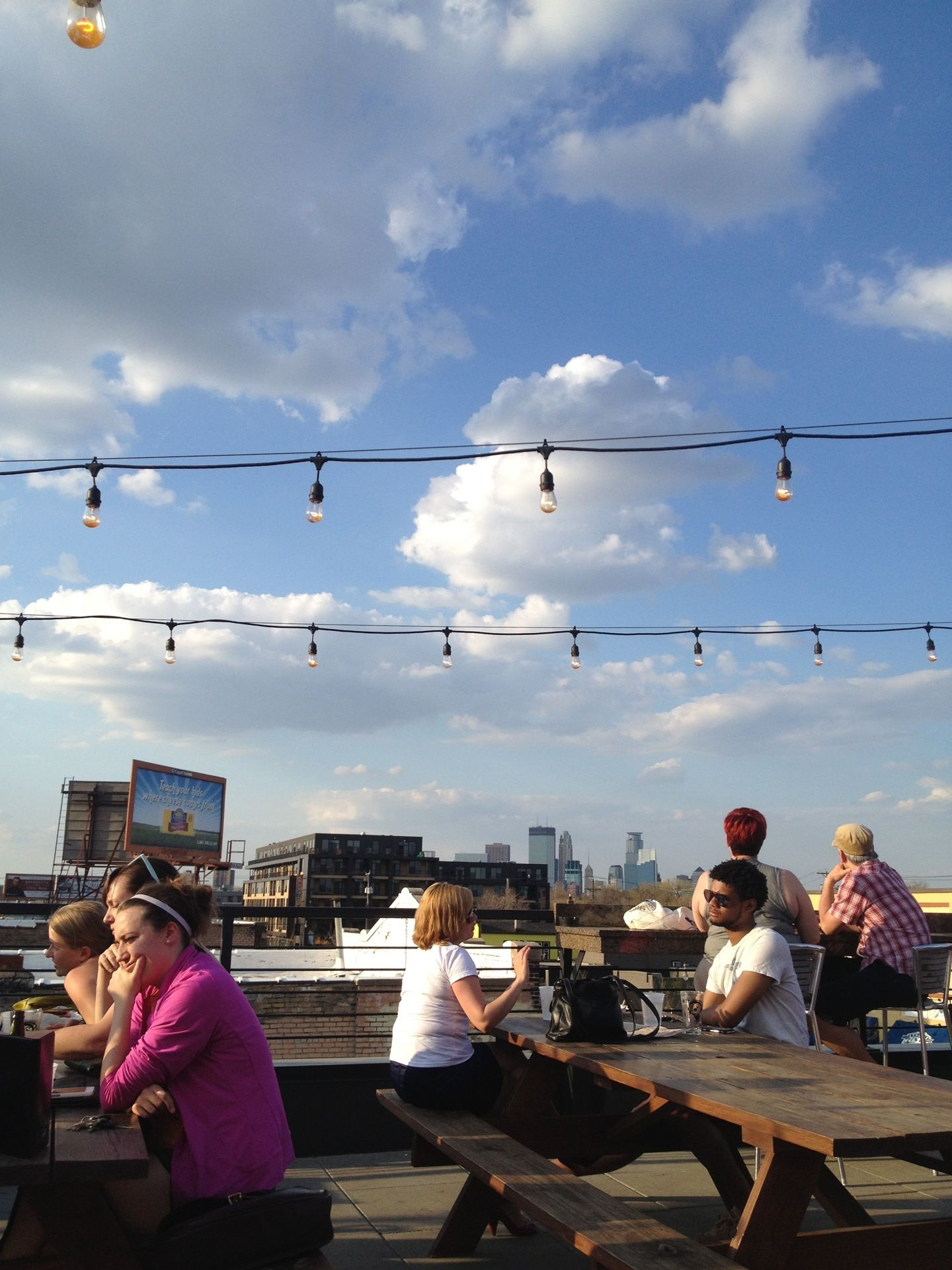 moto-i in minneapolis, mn - you can sit on the rooftop patio and
