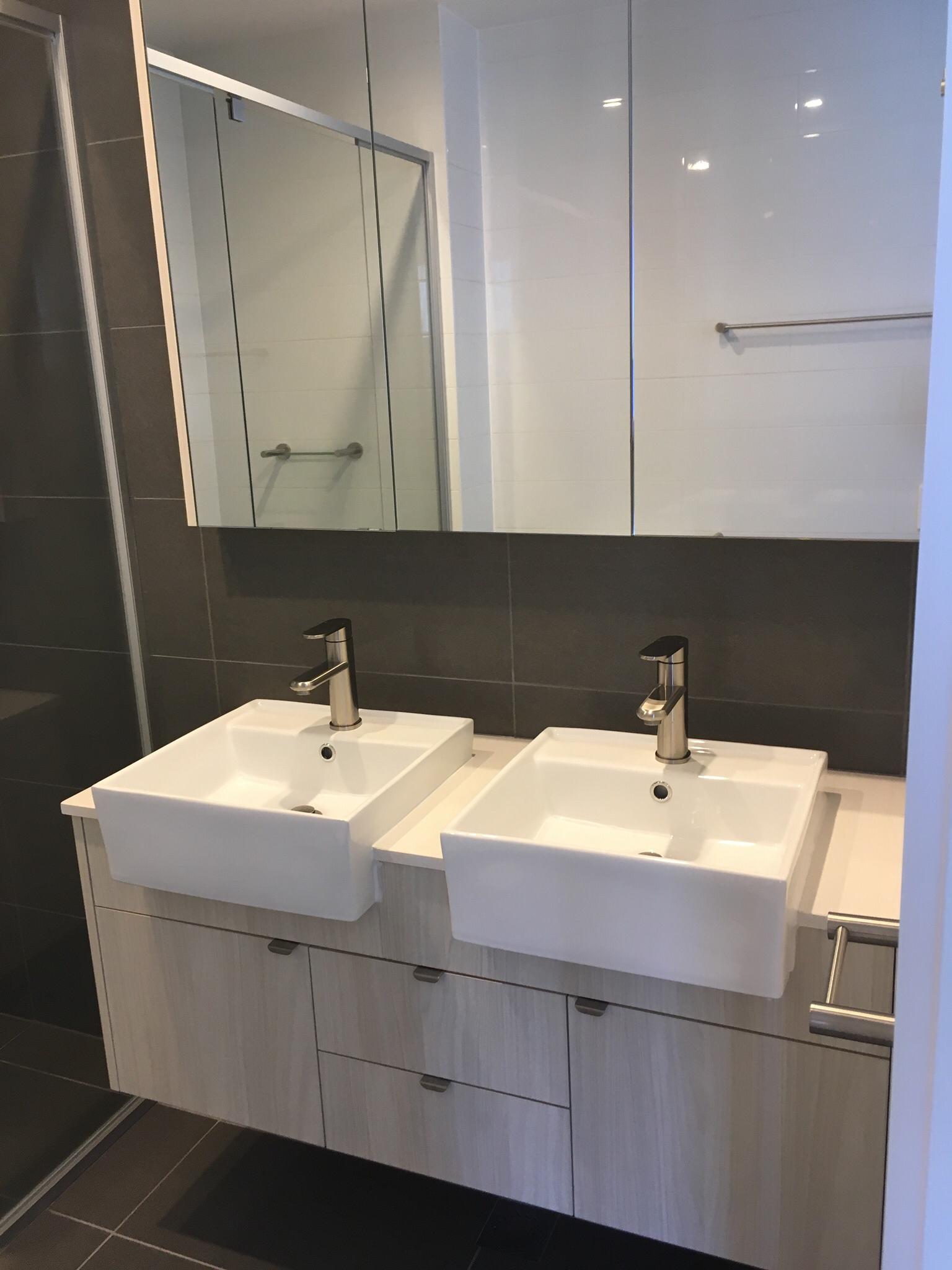 Double vanity by Freedom Construction Group