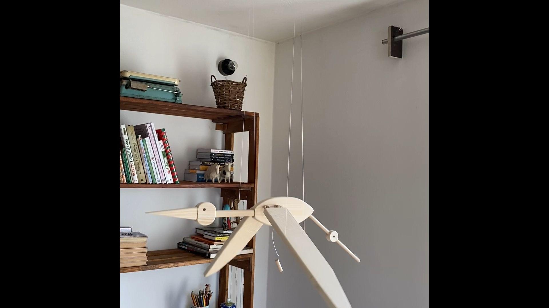 Natural Stork Wooden Mobile -   19 diy Wood kids ideas