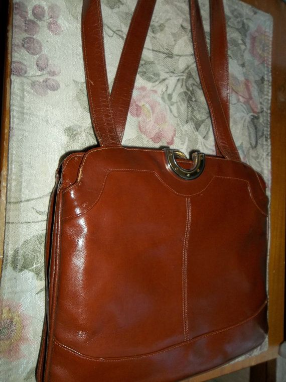Vintage Lou Taucor  brown Italian leather by Queenlacheapas, $49.99
