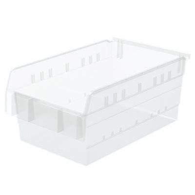Clear 8 inch ShelfMax Bins 17-7/8x11-1/8x8