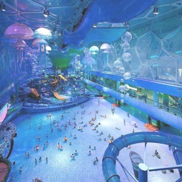 Beijing 39 S Water Cube They Converted Their Olympic Swimming Pool Into An Amazing Water Park