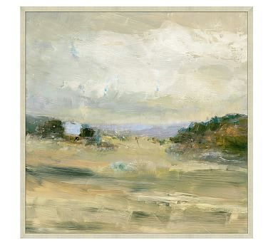 View Of The Valley Framed Canvas Potterybarn Landscape Canvas Oil Painting Abstract Landscape Art