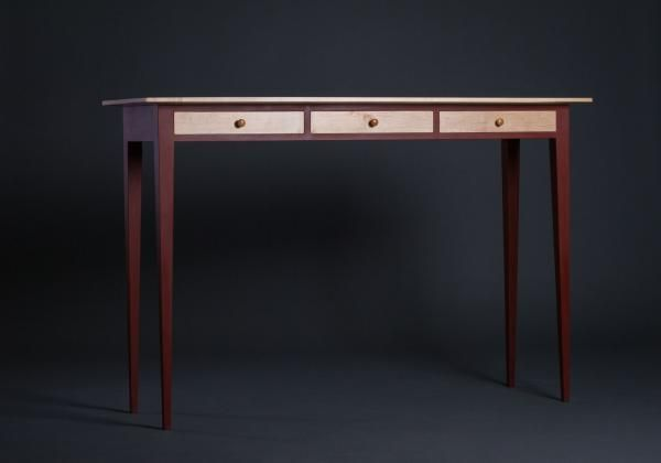 Bon Red Hall Table | Northwest Woodworkers Gallery