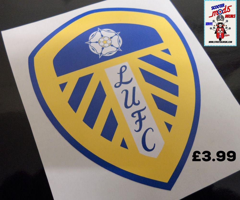 Leeds united decal sticker printed best quality uv ecosol solvent ink