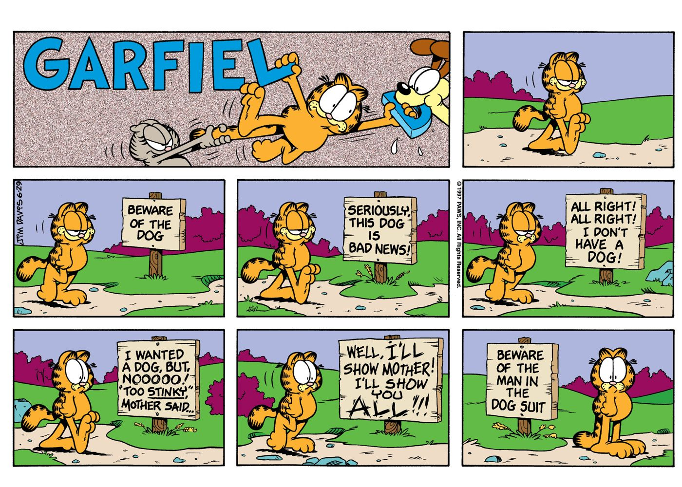 It S Garfield S 40th Birthday See 5 Of His Classic Comics
