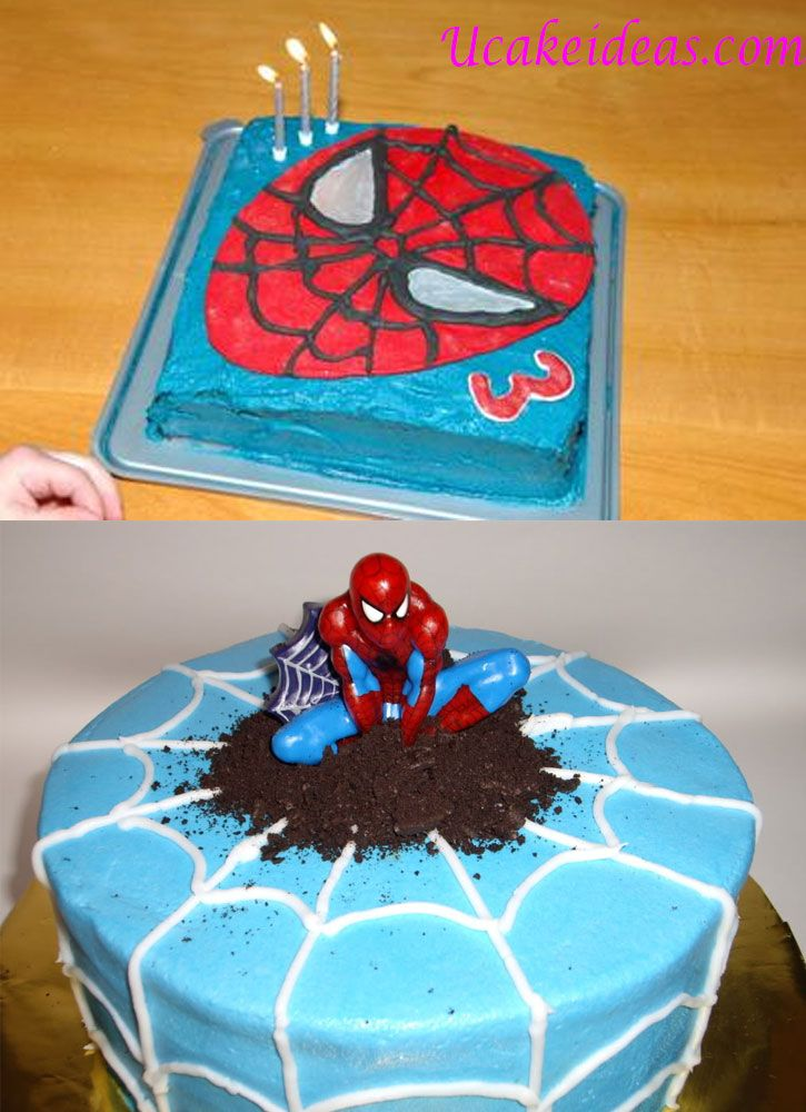 Homemade Spiderman Cake Ideas U Cake Ideas Superhero Birthday