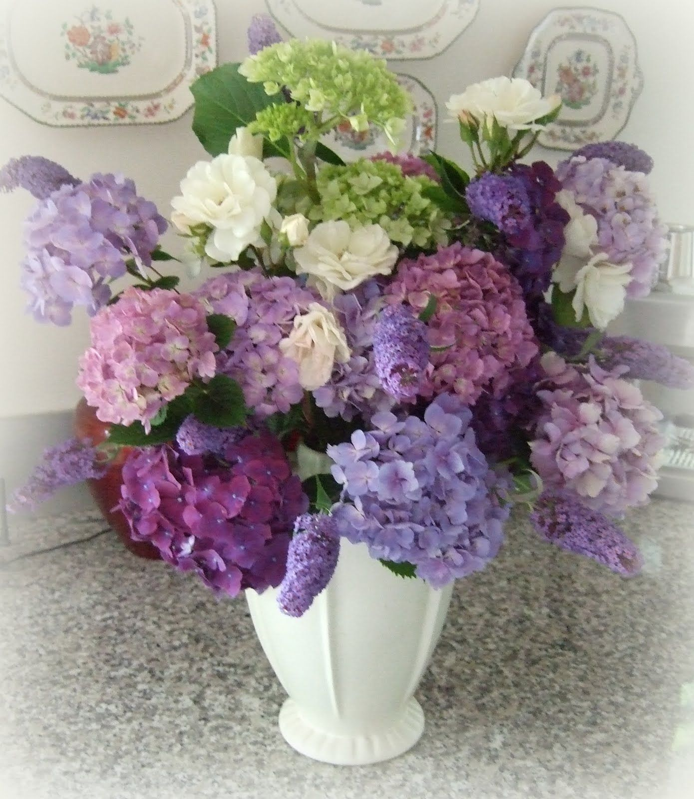 Every Stitch Christmas hydrangea bouquet from Hilda s garden