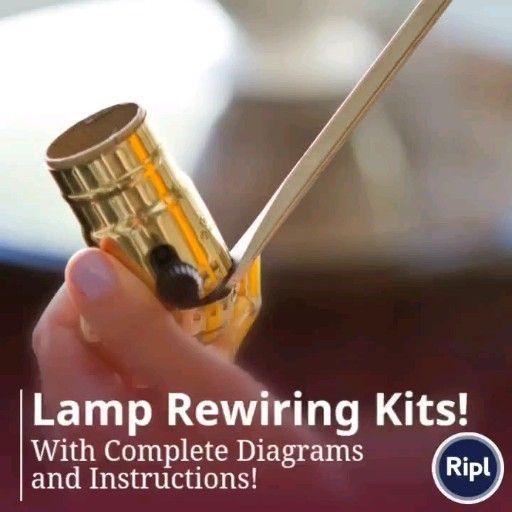 Lamp Rewiring Kits Video Electric Candle Lamp Vintage Floor Lamp Diy Table Lamp