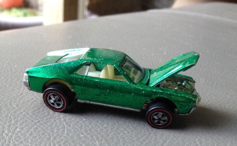 1968 HOT WHEELS REDLINE CUSTOM AMX IN GREEN-nice CONDITION | Vintage