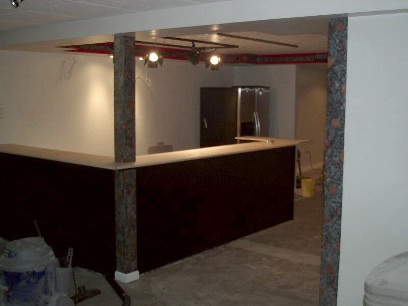 Lovely How to Frame A Basement Bar