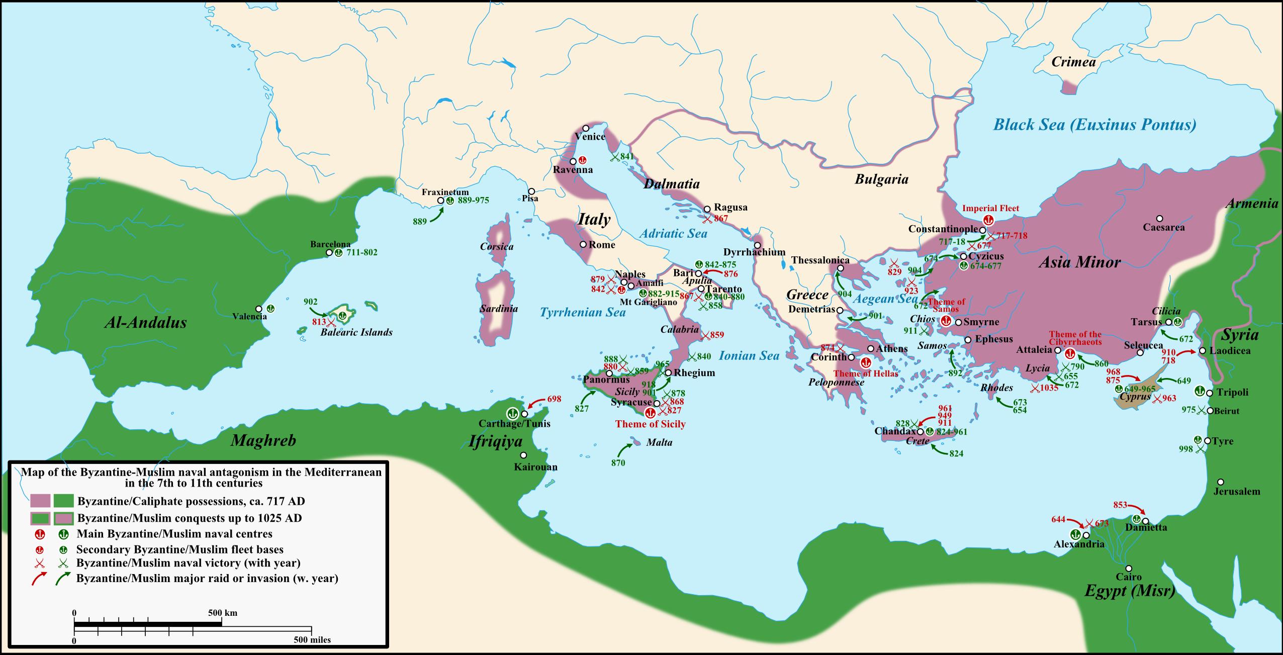 The Byzantine Muslim Naval Antagonism In The Mediterranean