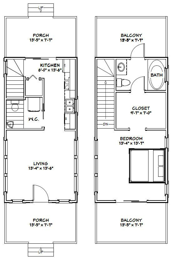 14x28 Tiny House -- #14X28H6D -- 749 sq ft - Excellent Floor ... on new york loft floor plans, tumbleweed house plans, two bedroom loft floor plans, micro house floor plans, tiny home house plans, small loft house plans, house designs with floor plans,