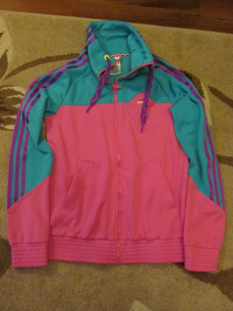 0c25745531fb Adidas Three Stripe Women s 8-10 Retro Vintage Style Tracksuit Jacket