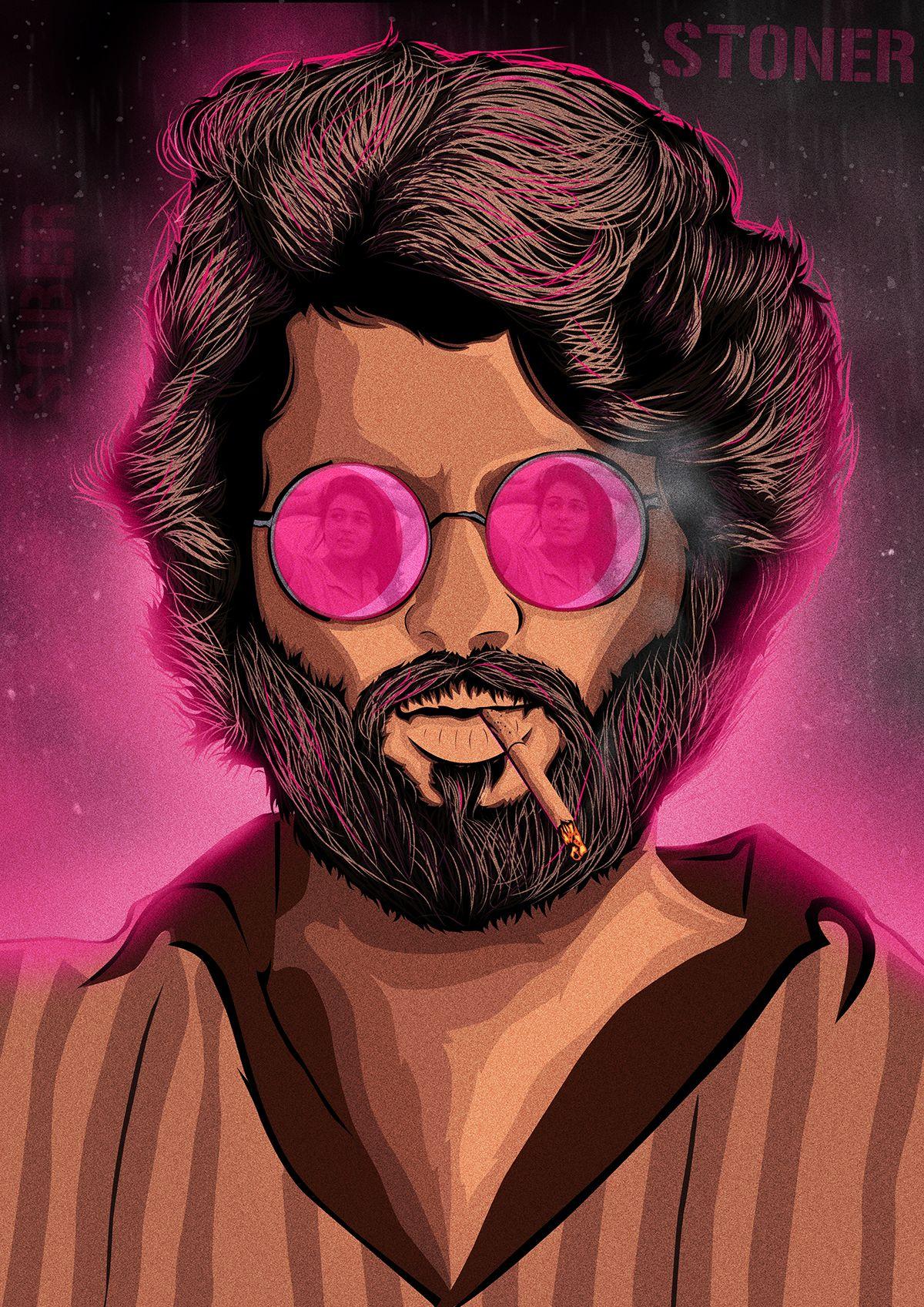 Pin By Vinay Raut On Actor Photo In 2020 Beard Art Digital Painting Portrait Movie Posters Minimalist