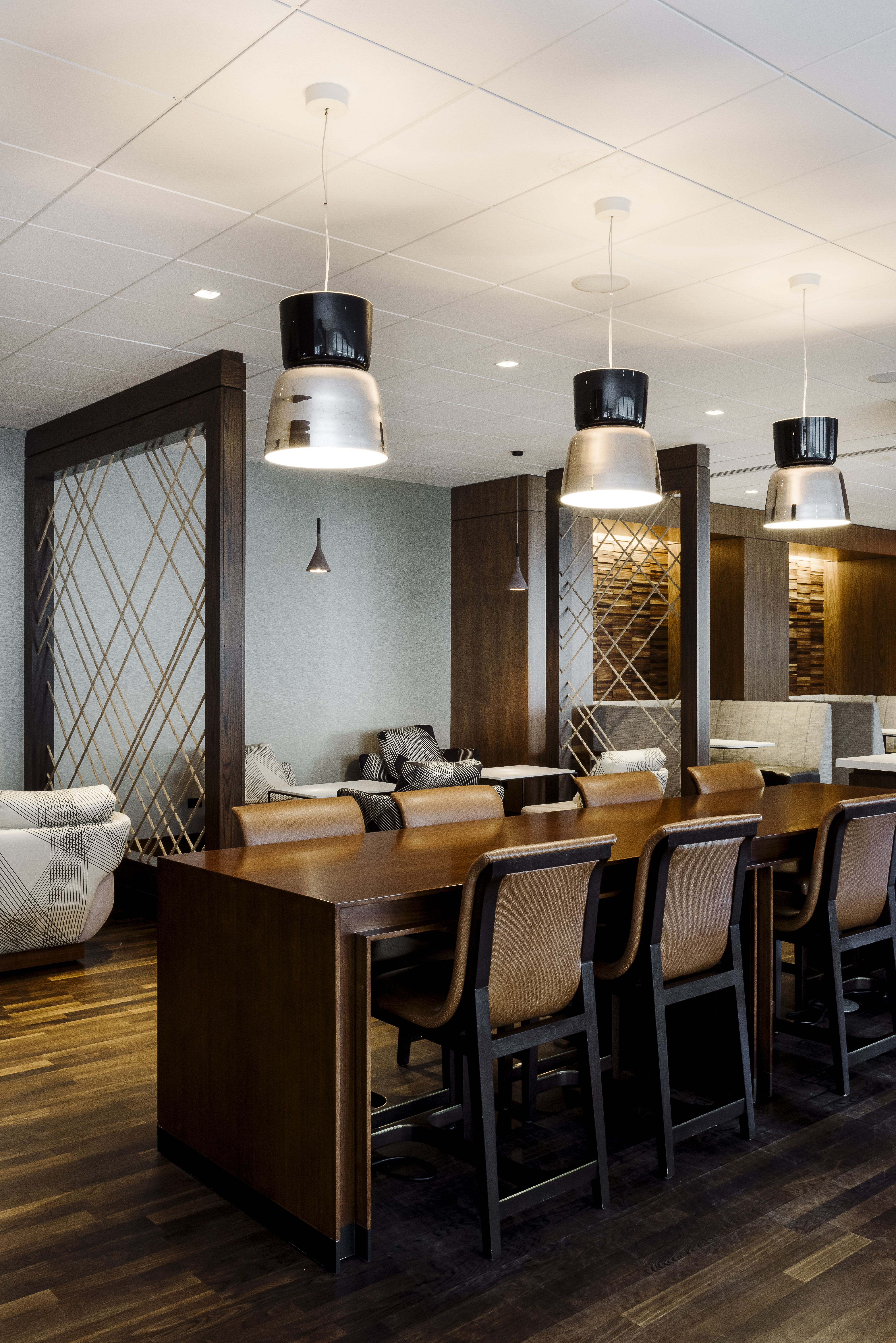 The Public Space at Marriott Brooklyn Bridge designed by New York