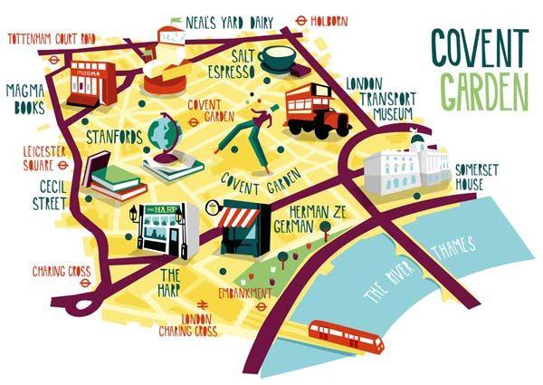 London borough map illustrations Draw something
