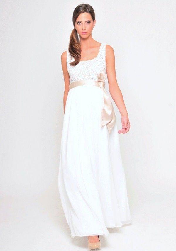 Maternity wedding dresses for pregnant brides who don 39 t for Pregnant women wedding dresses