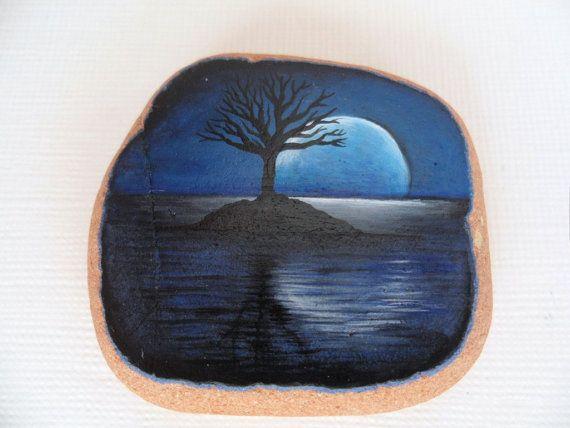 Moonlit tree miniature painting on english sea pottery sale third off moonlit tree miniature painting on english sea pottery original acrylic art sciox Choice Image