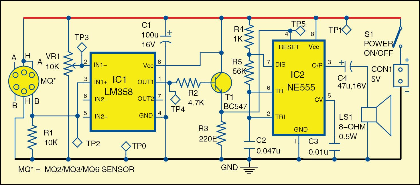 Smoke Alcohol And Lpg Detection Alarm Duman Dedektr Usb Power Booster Circuit Diagram Nonstopfree Electronic Circuits 1 Devresinin Devre Emas Dc Electronics Projects