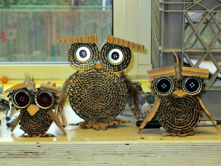 Senior camp art owl project esf summer camps gilman for Crafts using recycled materials