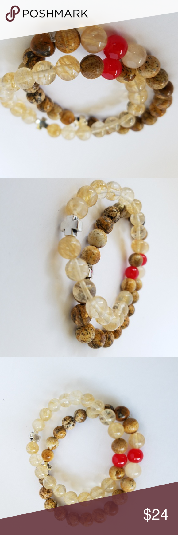 Coupleus natural stonecarnelian red bracelets boutique in my