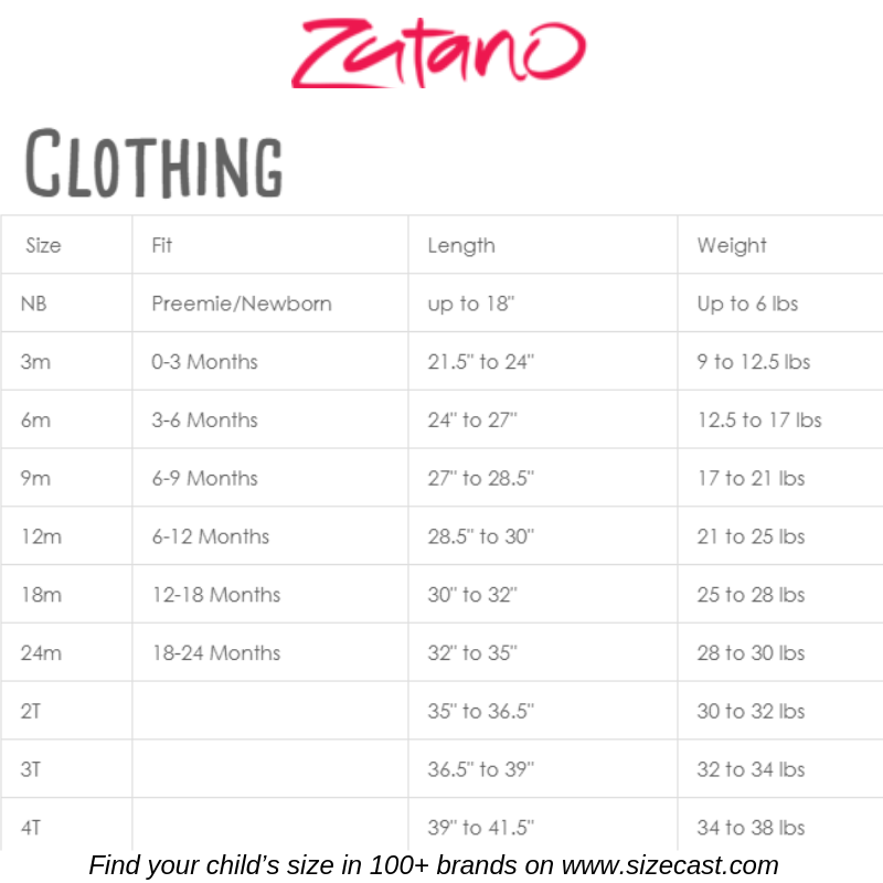 Zutano Size Chart Baby Clothes Size Chart Baby Clothing Size Chart Kids Clothes Size Chart Kid Baby Clothes Sizes Baby Clothes Size Chart Baby Growth Chart