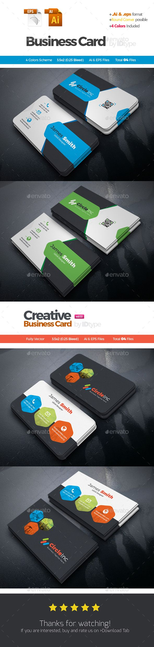 Business Card Bundle 2 In 1 Corporate Business Business Cards