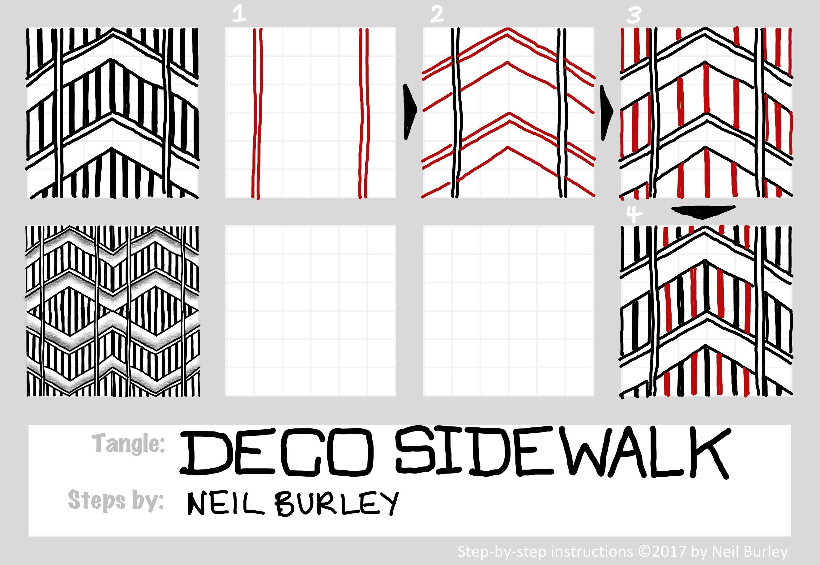 Tangle Pattern Deco Sidewalk