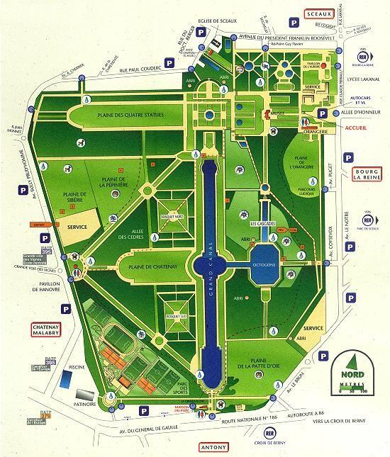 Roland Garros Location In Paris Map.Map Of Parc De Sceaux Closet For Reorganizing Pins Pinterest