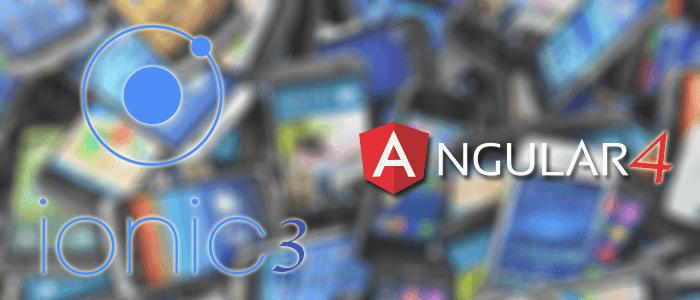 Ionic 3 and Angular 4 Mobile App Example