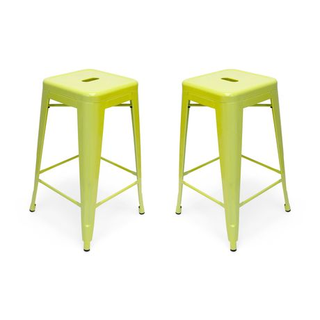 Inspirational Colored Metal Bar Stools