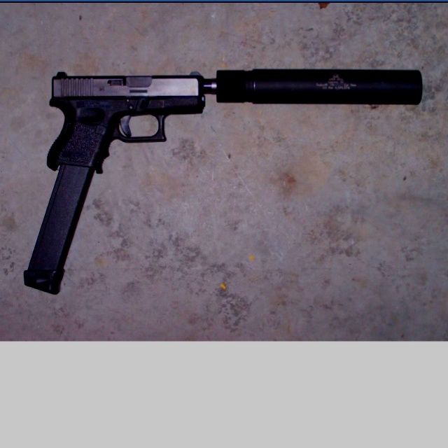 Handguns 9mm With Suppressor And Extended Clip Glock Extended Clip
