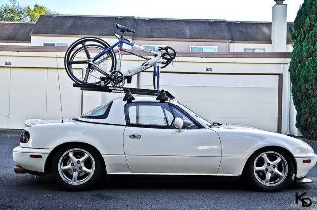 a roof rack on a miata odd but