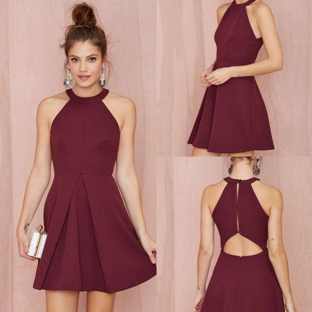 Short Homecoming Dress, Jersey Homecoming Dress, Knee-Length ...