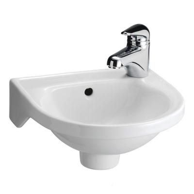 null Rosanna Wall-Mounted Bathroom Sink in White Wall mounted
