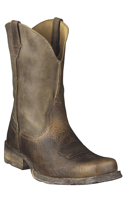 ARIAT Mens Rambler Wide Square Toe Western Cowboy Boot