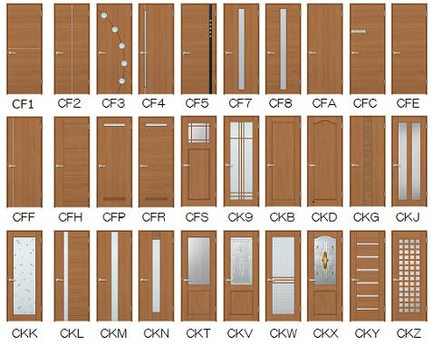 室内ドアウッディーラインデザイン一覧画像 室内ドア 現代的な玄関ドア ドア