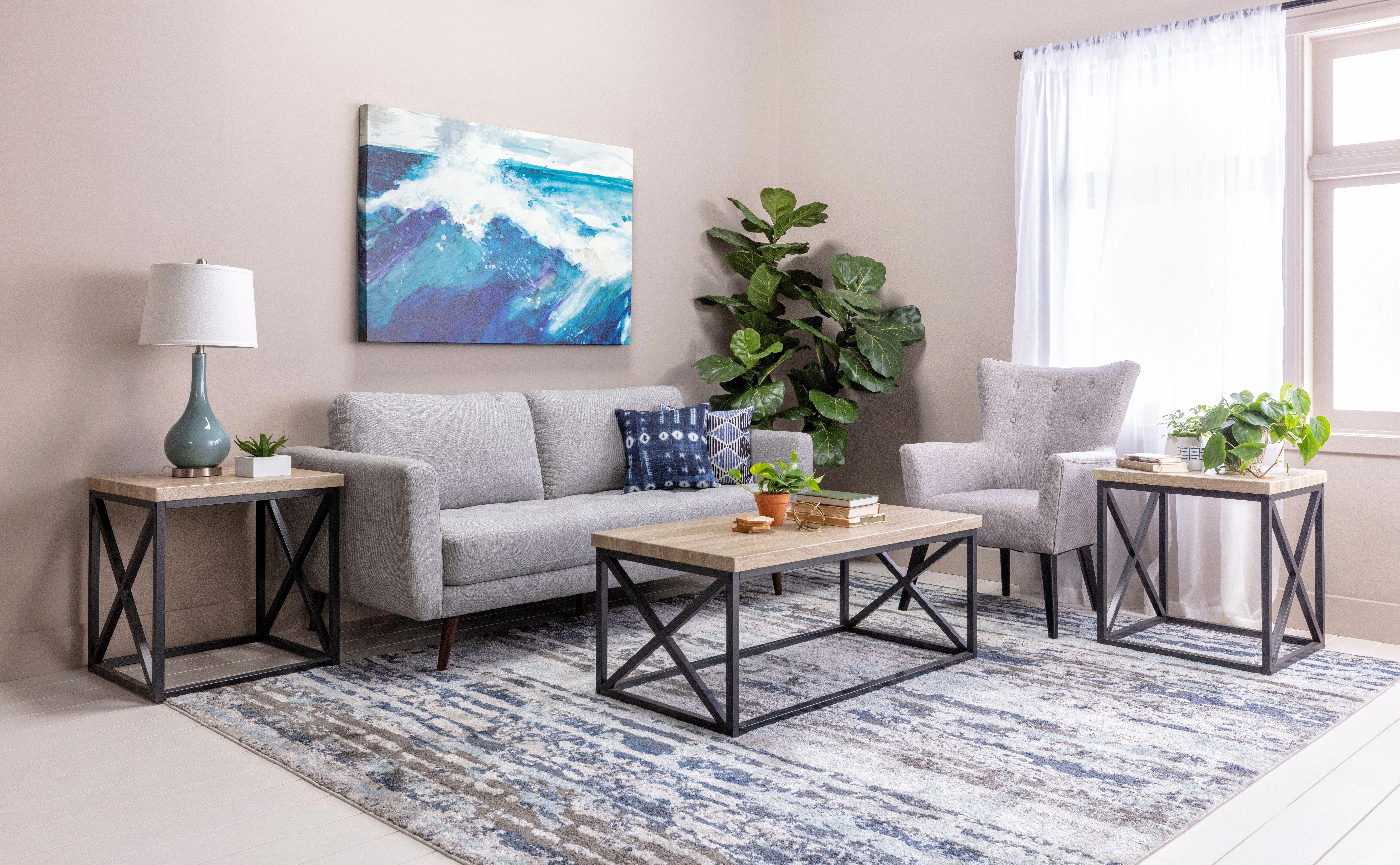 Modern Beach Themed Living Room On A Budget