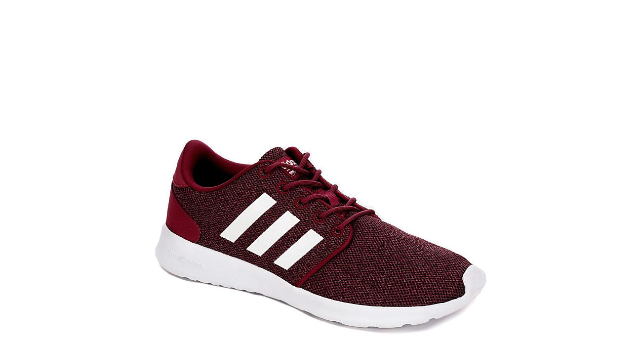 Burgundy Adidas Womens Cloudfoam Qt Racer Athletic Rack Room Shoes Adidas Cloudfoam Womens Sneakers Sneakers