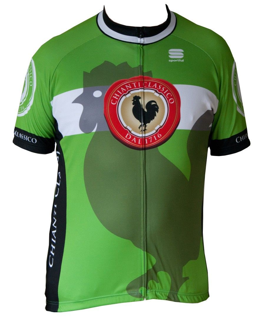Gallo Nero Chianti Classico Short-Sleeved cycle jersey. Color  Green.  Limited edition € 67 e8436ecc2